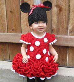 brynns a little old for this dress - but too cute - crochet minnie dress