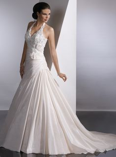 lace halter wedding dresses