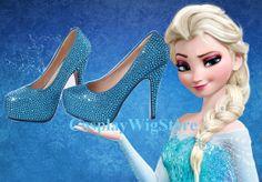 Frozen High Heels Snow Queen Elsa High Heels by CosplayWigStore, $65.00