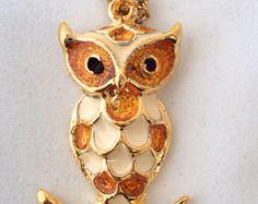 Vintage Deadstock NOS Owl Necklace on Etsy at RetroRosiesVintage