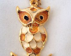 Vintage Deadstock NOS Owl Necklace on Etsy at RetroRosiesVintage