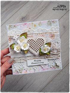 Handmade Anniversary Card Wedding Card 3D by MaremiSmallArt                                                                                                                                                                                 More