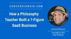 How a Philosophy Teacher Built a SaaS Business - with Joshua Parkinson Social Media Engagement, Philosophy, Teacher, Content, Facebook, Business, Building, Amazing, Easy