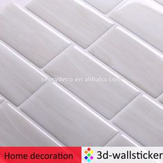 Glazed porcelain kitchen backsplash mosaic tile square wall stickers decor