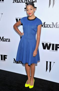 Actress Amandla Stenberg attends MaxMara And W Magazine Cocktail... News Photo 450415978