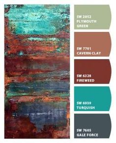 Paint colors from Chip It! by Sherwin-Williams by patsy Paint colors from Chip It! by Sherwin-Williams by patsy Paint Color Schemes, Colour Pallette, Paint Color Combinations, Wall Colors, House Colors, Colours, Teal Paint Colors, Gray Color, Rust Paint
