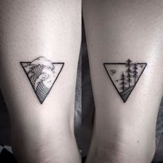 #geometric #tattoo #waves #trees #treeline #ankletattoo #girlswithtattoos #ink