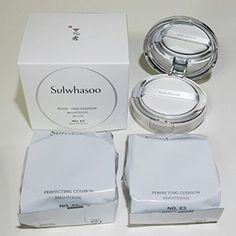 Sulwhasoo Perfecting Cushion Brightening Deluxe SPF50+/PA+++ 15g X3ea (No.23 Medium Beige). Sulwhasoo Perfecting Cushion Brightening Spf50 15g X3ea (No.23 Medium Beige). One Product + Refill + Gifts. 15g + 15g + 15g.