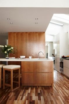 Stunning Modern Kitchen With No Windows But Full Of Light | DigsDigs
