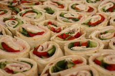 Deli Style Rolled Sandwiches