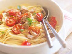 Découvrez la recette Pâtes aux tomates cerise sur cuisineactuelle.fr.