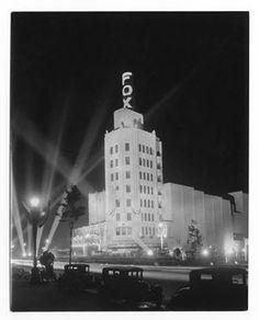 The Fox Wilshire Theatre, Los Angeles, 1930. Photograph by Mott Studio