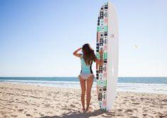 DVF loves Roxy girly surfboard