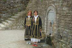 Girls in traditional costumes, Gjirokastra Albania