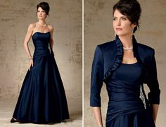 Mother of the Bride Crystal Satin Ballgown
