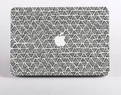 Hard Plastic Monochrome Triangle Pattern Macbook Case Design in White for MacBook Pro Retina Display and MacBook Air Case Macbook Case, Macbook Pro Retina, Iphone Decal, Iphone Cases, Laptop Cases, Tech Gadgets, Cool Gadgets, Mac Skins, Macbook Accessories