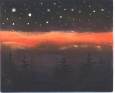 Suns Last Light acrylic star painting by Jim by jimsmeltzgallery, $20.00