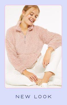 Hoodies, Sweatshirts, New Look, Camel, Latest Trends, Bell Sleeve Top, Template, Autumn, Zip