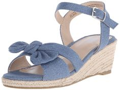 The Children's Place Jasmine Denim Bow Wedge Sandal (Little Kid/Big Kid) >> Stop everything and read more details here! : Girls sandals