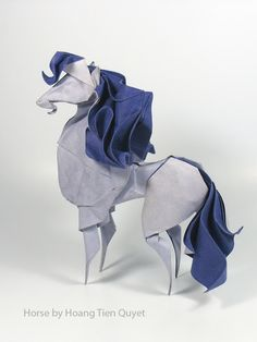 Wet Fold Origami Technique Gives Wavy Personality to Paper Animals by Artist Hoa., Wet Fold Origami Technique Gives Wavy Personality to Paper Animals by Artist Hoa…, Origami Modular, Origami Paper Folding, Origami And Quilling, Origami And Kirigami, Oragami, Origami Shapes, Origami Hearts, Origami Flowers, Paper Quilling
