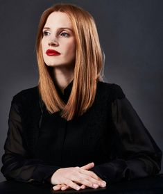 Playback: Jessica Chastain on 'Miss Sloane' and a 'Depressing' Presidential Election - Frisuren Actress Jessica, Long Bob Hairstyles, Pixie Haircuts, Layered Haircuts, Celebrity Hairstyles, Braided Hairstyles, Wedding Hairstyles, Strawberry Blonde, Ginger Hair