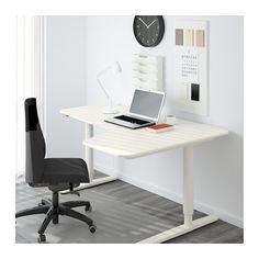 BEKANT Corner desk right sit/stand - white - IKEA