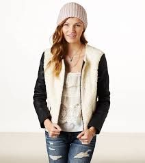 Ivory and Black Jacket from American Eagle