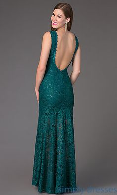 Lace Floor Length Sleeveless Dress TW-4155