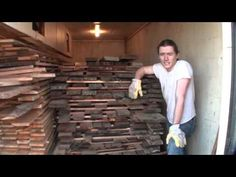 Kiln Drying Reclaimed Lumber for Making Furniture - Barn Wood to Farm Table Woodworking Tools List, Woodworking Furniture, Woodworking Mallet, Building Furniture, Furniture Making, Furniture Design, Wood Pallet Furniture, Wood Pallets, Wood Slab