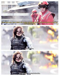 Bucky with the good hair