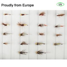 (39.99$)  Buy here - http://ai1fg.worlditems.win/all/product.php?id=32717754268 - 2016 Best Sale Quality Riverruns 18 Competition Flies Trout UV Flies Nymph Flies Fly Fishing Flies New
