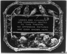 'Please applaud with hands only': Movie theater audience etiquette posters from 1912 | Dangerous Minds