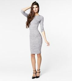 #DYNHOLIDAY Don't sweat it! This sweater dress is perfect for the colder season. Pair it with nylons and knee high boots.