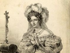 The duchesse d'Angouleme, Marie Thérèse Charlotte of France was the eldest child of Louis XVI and Marie Antoinette.