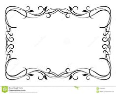 simple floral frame - Google Search