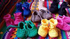 LINDEVROUWSWEB: Baby Slofjes en Baby Laarsjes haken