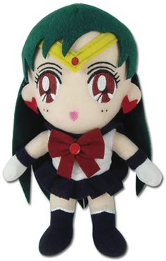 It's all your favorite characters from the hit anime Sailor Moon, now as collectible plush! This cute and collectible plush depicts Sailor Pluto, looking pretty and ready to protect the Solar System f