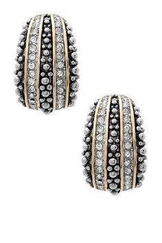 Tri-Tone Simulated Diamond Dangle Earrings by Regal jewelry Inc. on @HauteLook