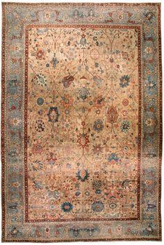 Персидский антикварный ковер ТАБРИЗ www.orientalcapets.com #Tabriz #rug #ковер