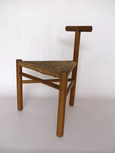 Wim den Boon; Ash and Rush Chair, 1952.