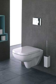 Wall hung toilet. Find out more about it here: http://www.twyfordbathrooms.com/suites/galerie-plan/