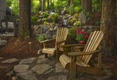 Great chairs to go around my fish pond..