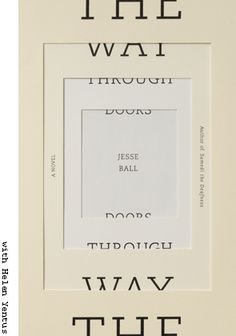 Book cover by Jason Booher; The Way Through Doors by Jesse Ball