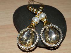 Decorative Tassels - Off White and Gold Tassels - Beaded Tassel - Wedding Lehenga - Blouses - Accessories Latkan, Indian Embellishment