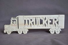 Semi Truck Driver Trucking Puzzle  Wooden Toy Hand by Puzzimals