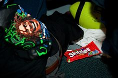 Skittles-mania has overtaken Seattle thanks to Marshawn Lynch, and sure enough, a bag could be found in the depths of his locker before the game.    #favoriteseahawksphoto