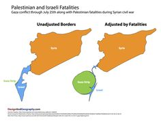 Palestinian and Israeli Fatalities - Design and Geography