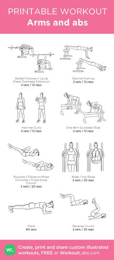 Arms and abs: my visual workout created at Ab And Arm Workout, Cable Workout, 6 Pack Abs Workout, Abs Workout For Women, Wod Workout, Killer Workouts, Gym Workouts, At Home Workouts, Arms And Abs