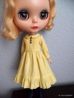 School Girl dress for blythe  Honeydew by DressingBlythe on Etsy