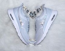 Nike Air Max Thea Premium w/ SWAROVSKI® Crystals - Pure Platinum/White/Cool Grey